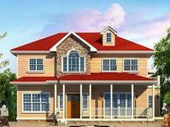 时尚版轻钢别墅-红色屋顶