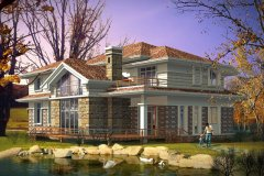 钢结构别墅:FK-GH205+两层-16.80X18.00米