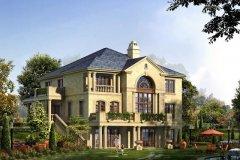 钢结构别墅:FK-RJ207+两层-16.70X18.35米