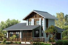钢结构别墅(钢构房)RJ-GG202+两层-10.20X14.70米