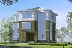 钢结构别墅(钢构房)RJ-GG302+三层-11.86X09.26米
