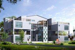 钢结构别墅(钢构房)RJ-GG303+三层-32.00X16.00米