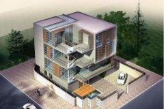 钢结构别墅(钢构房)RJ-GG401+多层-12.60X20.08米