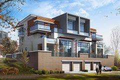 钢结构别墅(钢构房)RJ-GGS01+双拼-24.10X12.80米