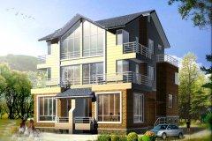 钢结构别墅(钢构房)RJ-GGS02+双拼-14.04X13.64米
