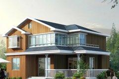 钢结构别墅(轻钢房)RJ-QG202+两层-13.80X09.80米