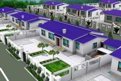 钢结构别墅(轻钢房)RJ-QG201+两层-10.14X09.58米
