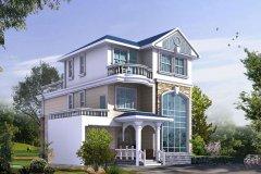 钢结构别墅(钢混房)RJ-GH308+三层-(13.32x13.72)