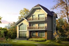 钢结构别墅(钢混房)RJ-GH309+三层-(12.5x14.25)带设计图