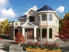 190平方美式风格轻钢别墅户型