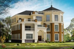 钢结构别墅(钢混房)RJ-GH303+三层-14.40X14.10米