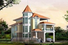 钢结构别墅(钢混房)RJ-GH302+三层-13.90X20.70米