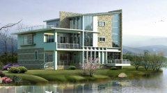 钢结构别墅之湖边小清晰