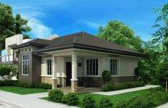新农村钢结构别墅11米X13米 3房2厅 含效果平面图