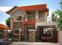 新乡间钢结构自建别墅9米×10米二层带车库