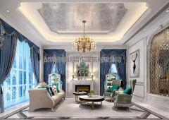 别墅装修:600平现代法式别墅,浪漫奢华美家!
