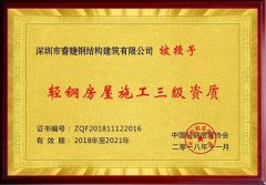 睿婕钢结构建筑有限公司正式加盟入中国轻钢协会会员!